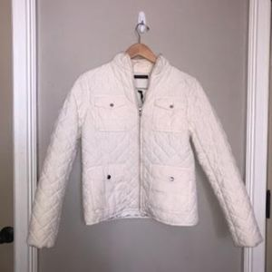 Ralph Lauren Cream White Puffer Jacket